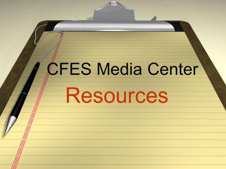 CFES Media Center Resources. Library Pro Accessible from your classroom - lets you find out without coming to the library if we have an item and if it.