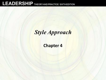 Style Approach Chapter 4.