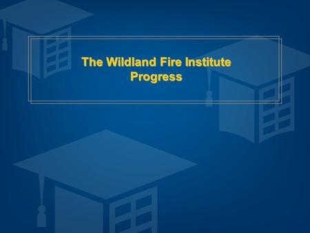 The Wildland Fire Institute Progress. 2 © Copyright 2010 All Rights Reserved Business Case for Change: Opportunities  Cost of training and use of collective.