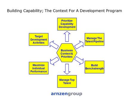 Building Capability; The Context For A Development Program