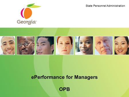 EPerformance for Managers OPB State Personnel Administration.