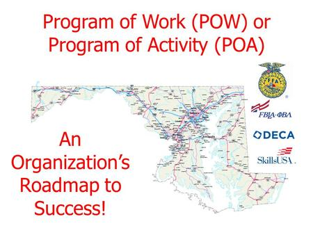 Program of Work (POW) or Program of Activity (POA)