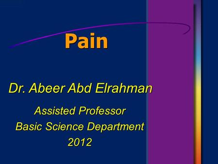 Assisted Professor Basic Science Department 2012