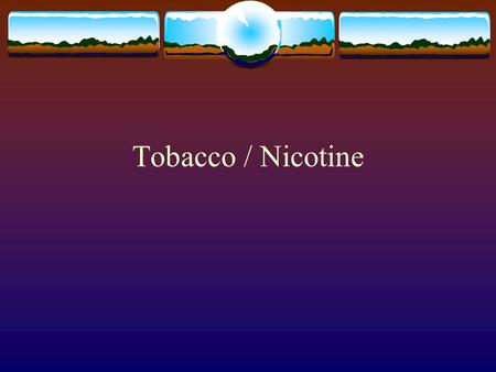 Tobacco / Nicotine. Introduction  Smoking most avoidable cause of death  1,000 Americans die each day due to tobacco related diseases – 1 in 6 deaths.