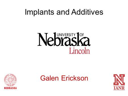Implants and Additives Galen Erickson. Implanting Defects Partially missing implant Improper Location Crushed Implants.