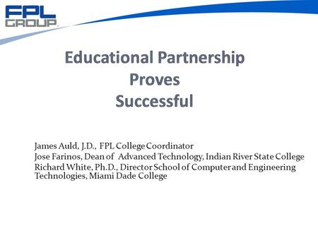 Educational Partnership Proves Successful