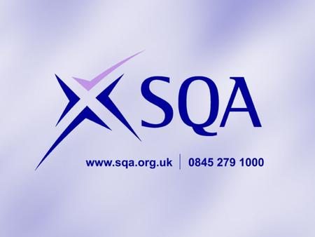 Curriculum for Excellence: New National Qualifications in Scotland May 2011 Scott Murphy CfE Liaison Manager Scottish Qualifications Authority