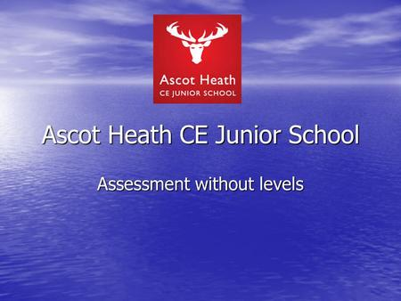Ascot Heath CE Junior School Assessment without levels.