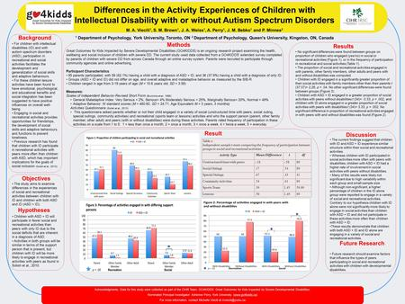 Acknowledgments: Data for this study were collected as part of the CIHR Team: GO4KIDDS: Great Outcomes for Kids Impacted by Severe Developmental Disabilities.