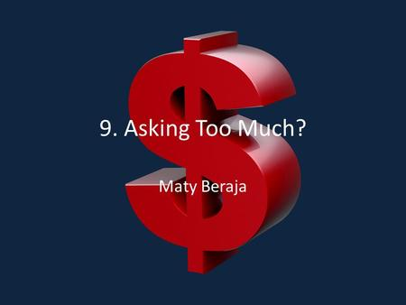 "9. Asking Too Much? Maty Beraja. ""In the first part of this book I argue that in order to be good people, we must give until if we give more, we would."