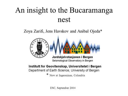 An insight to the Bucaramanga nest