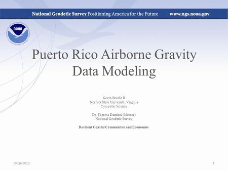 Puerto Rico Airborne Gravity Data Modeling