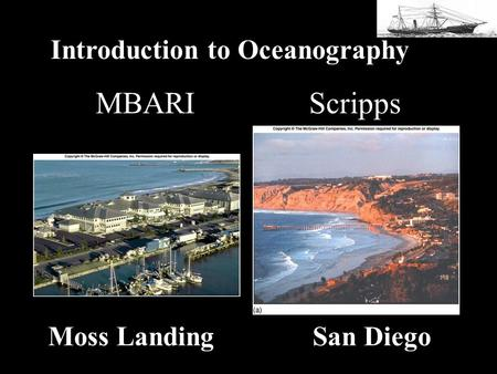 MBARI Scripps Moss Landing San Diego Introduction to Oceanography.