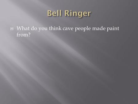  What do you think cave people made paint from?.