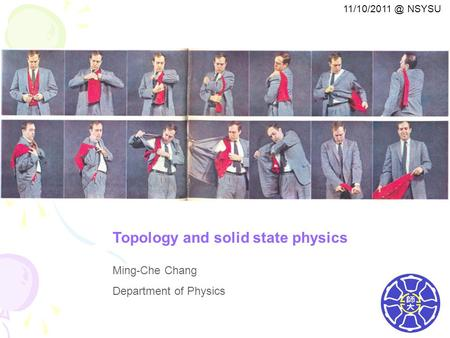 Topology and solid state physics