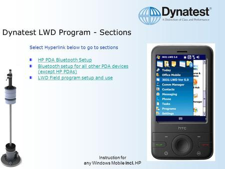 Dynatest LWD Program - Sections