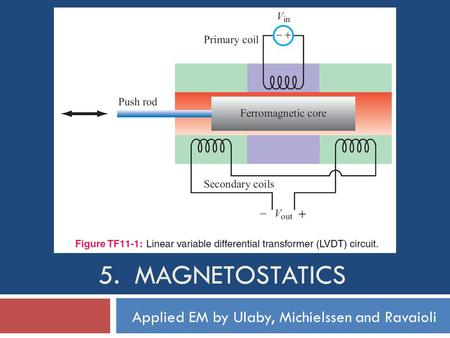 5. Magnetostatics Applied EM by Ulaby, Michielssen and Ravaioli.