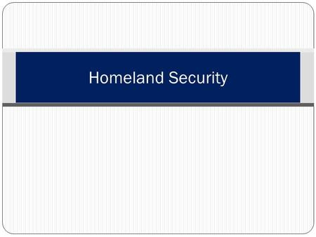 Homeland Security. Learning Topics Purpose Introduction History Homeland Security Act Homeland Defense Terrorism Advisory System Keeping yourself safe.