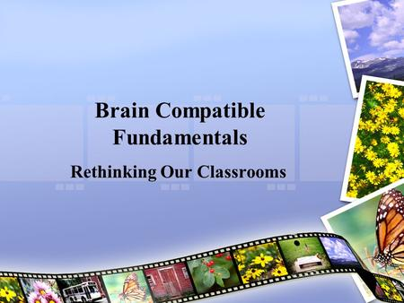 Brain Compatible Fundamentals Rethinking Our Classrooms.