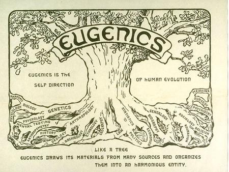 "Eugenics was coined in 1883 by Francis Galton to mean ""well born"" It was the combinations of Mendelian genetics and agricultural breeding positive eugenics."
