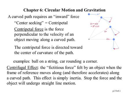 Chapter 6: Circular Motion and Gravitation