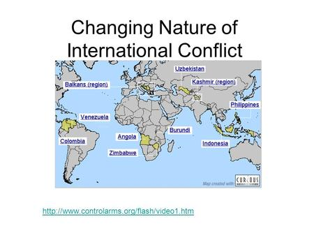 Changing Nature of International Conflict