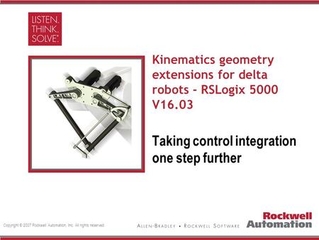Kinematics geometry extensions for delta robots - RSLogix 5000 V16.03