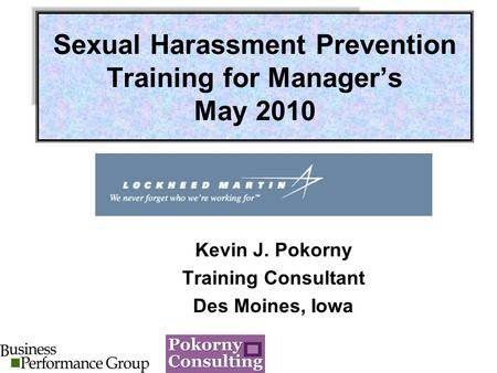 Sexual Harassment Training - Official Site