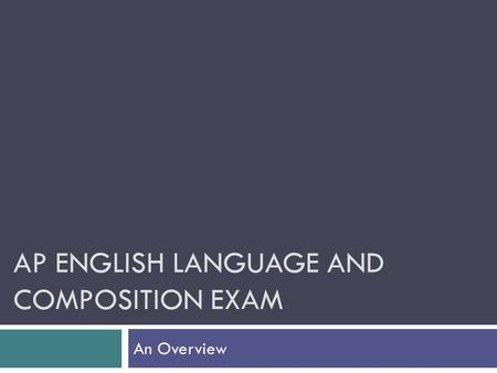 ap english exam free response Free-response questions advanced placement program, ap, ap central, and the acorn logo 2017 ap ® english language and composition free-response questions.