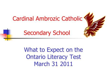 Cardinal Ambrozic Catholic Secondary School