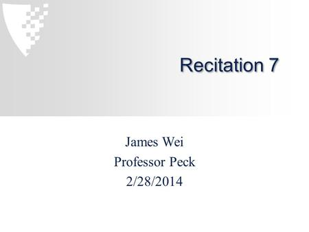 Recitation 7 James Wei Professor Peck 2/28/2014. Covered in this Recitation LinkedList practice with JUnit testing Submit through ambient.