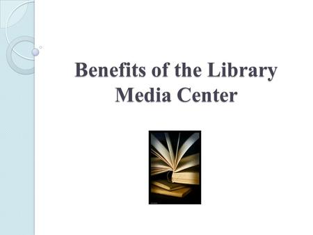 Benefits of the Library Media Center. Indian Valley High School Faculty Meeting Presentation Goals:  Let teachers know that I am available to assist.