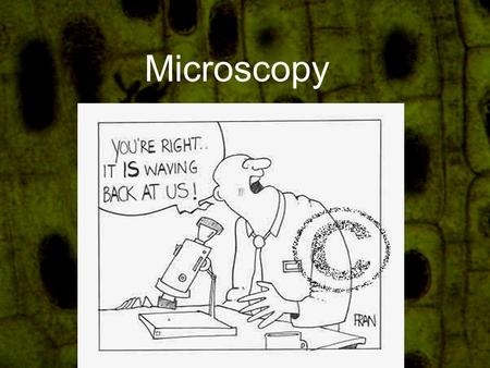 "Microscopy. What is a microscope? A scientific tool that helps scientists see things that cannot normally be seen with the ""naked"" eye."
