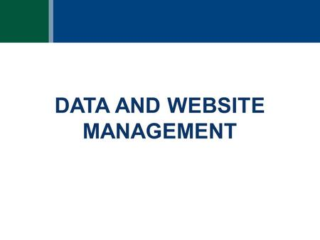 DATA AND WEBSITE MANAGEMENT. Utica Play Book Access—Option 1