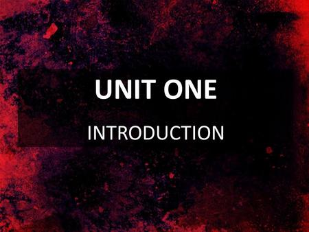 UNIT ONE INTRODUCTION. SECTION I Christ: The Key to the Inspiration and Canonization of the Bible.