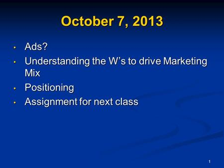 student marketing mix assignment View homework help - marketing mix assignment from aem 2400 at cornell university aem 2400 fall 2015 marketing audit project please use this as your cover sheet name: _ student id #: _ net id:.