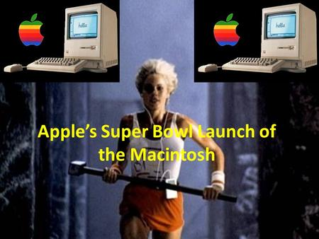 Apple's Super Bowl Launch of the Macintosh. Apple Super Bowl Reflection Things that you liked… _______________________ Things that you did not like… _______________________.