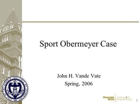 sport obermeyer case operations management In technology, information and operations management, vol 10, no 2, pp   campbell soup, a producer of canned food, and sport obermeyer, a supplier of.
