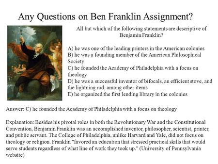 benjamin franklin and religion essay Research essay sample on benjamin franklin and his views on religion custom essay writing man franklin benjamin attitude.
