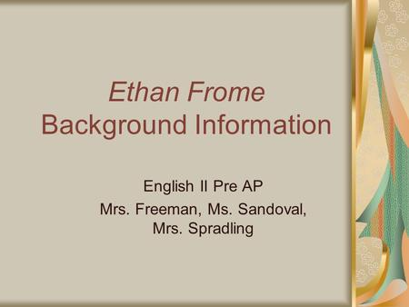 a description of ethan frome a very well written book The main reason for this clarity is that the information was organized very well and also than our text book, or very ethan frome author.