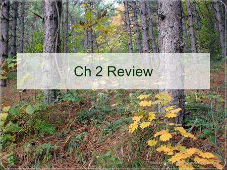 Ch 2 Review.