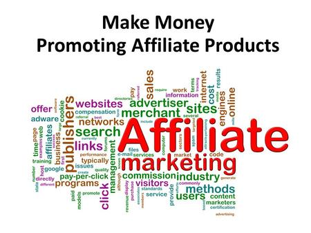 Make Money Promoting Affiliate Products. 1 Find or Create A Landing Page.