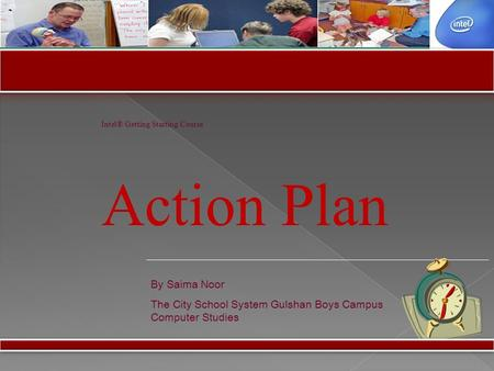 Action Plan By Saima Noor