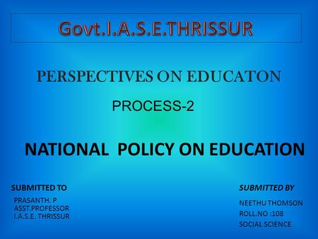 PERSPECTIVES ON EDUCATON