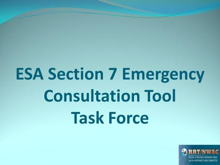 ESA Section 7 Emergency Consultation Tool Task Force.