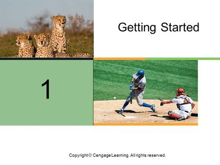 Copyright © Cengage Learning. All rights reserved. Getting Started 1.