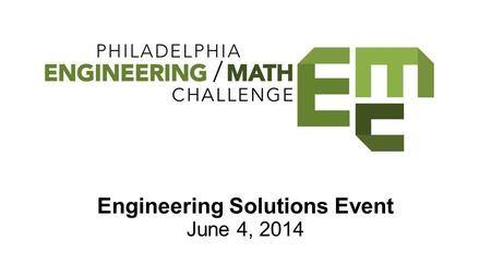 Engineering Solutions Event June 4, 2014. ExCITe Center Expressive & Creative Interaction Technologies Drexel University ●Unlocking the potential that.