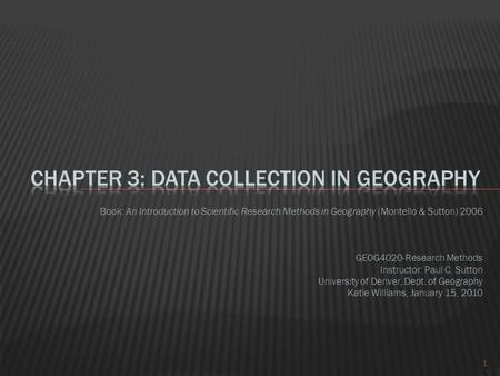qualitative research methods in human geography pdf