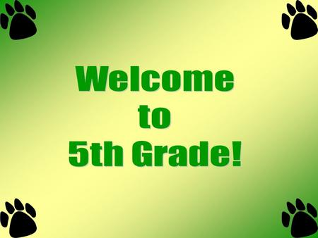 Welcome Teacher Introduction and Background Expectations/Guidelines.