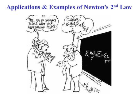 Applications & Examples of Newton's 2nd Law